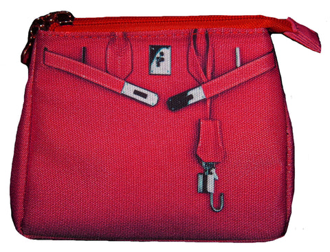 Taigen Cosmetic Pouch: Red