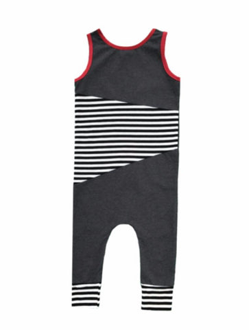 Tank Romper- Stripes