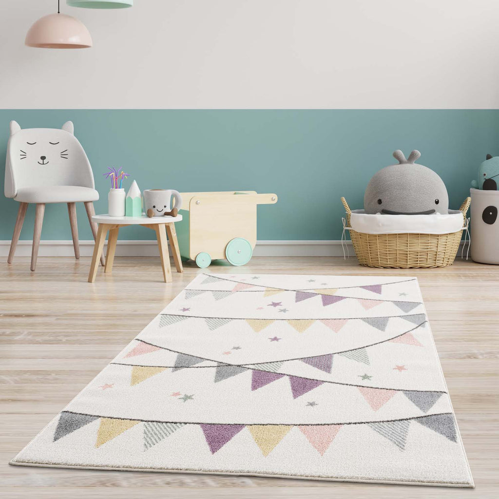 Tapis enfant Omid Happy Stars Rose Rug