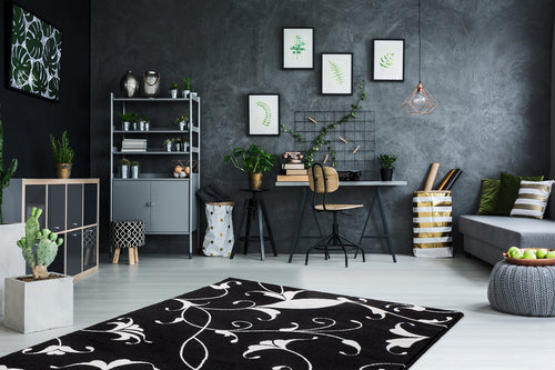 Vloerkleed Obsession Black & White Black 390 - Omid Carpets