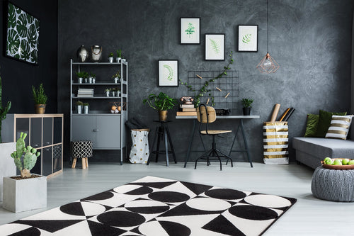 Vloerkleed Obsession Black & White Black-White 392 - Omid Carpets
