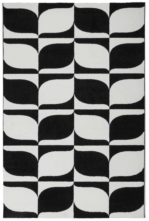 Vloerkleed Obsession Black & White Black-White 393 - Omid Carpets