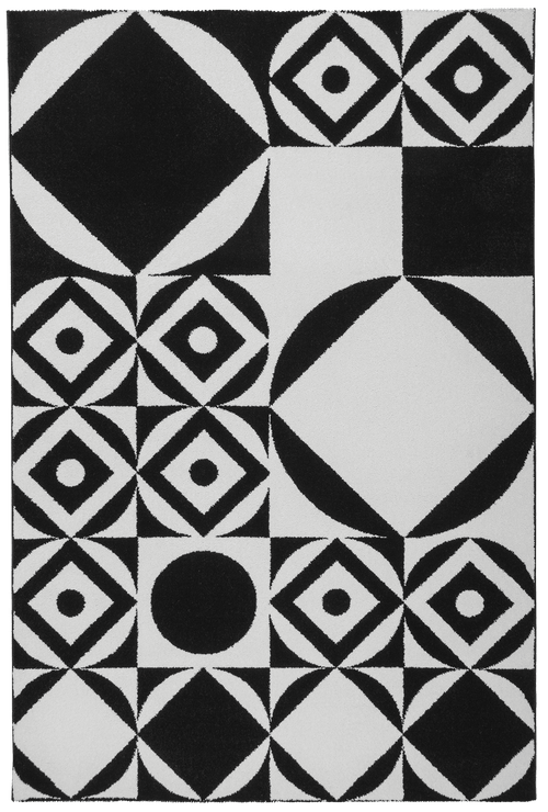 Vloerkleed Obsession Black & White Black-White 394 - Omid Carpets