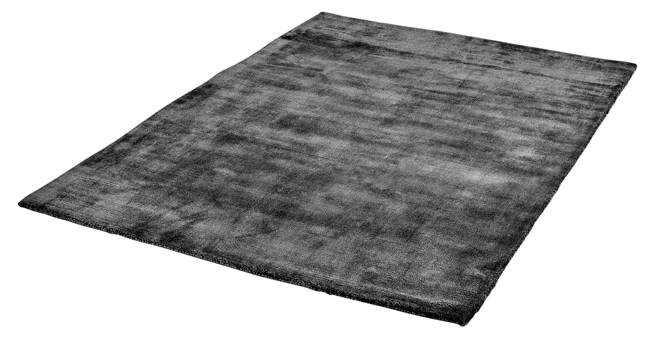 Vloerkleed Lyocell Handgeweven Obsession Breeze of Obsession Anthracite 150 - Omid Carpets