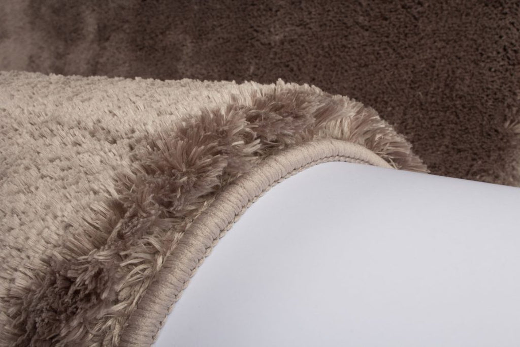Taupe Tapijt Hoogpolig Vloerkleed - Omid Feather - Omid Carpets