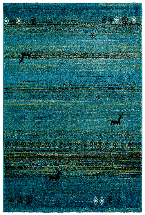 Vloerkleed Obsession Gabbeh Turquoise 412 - Omid Carpets
