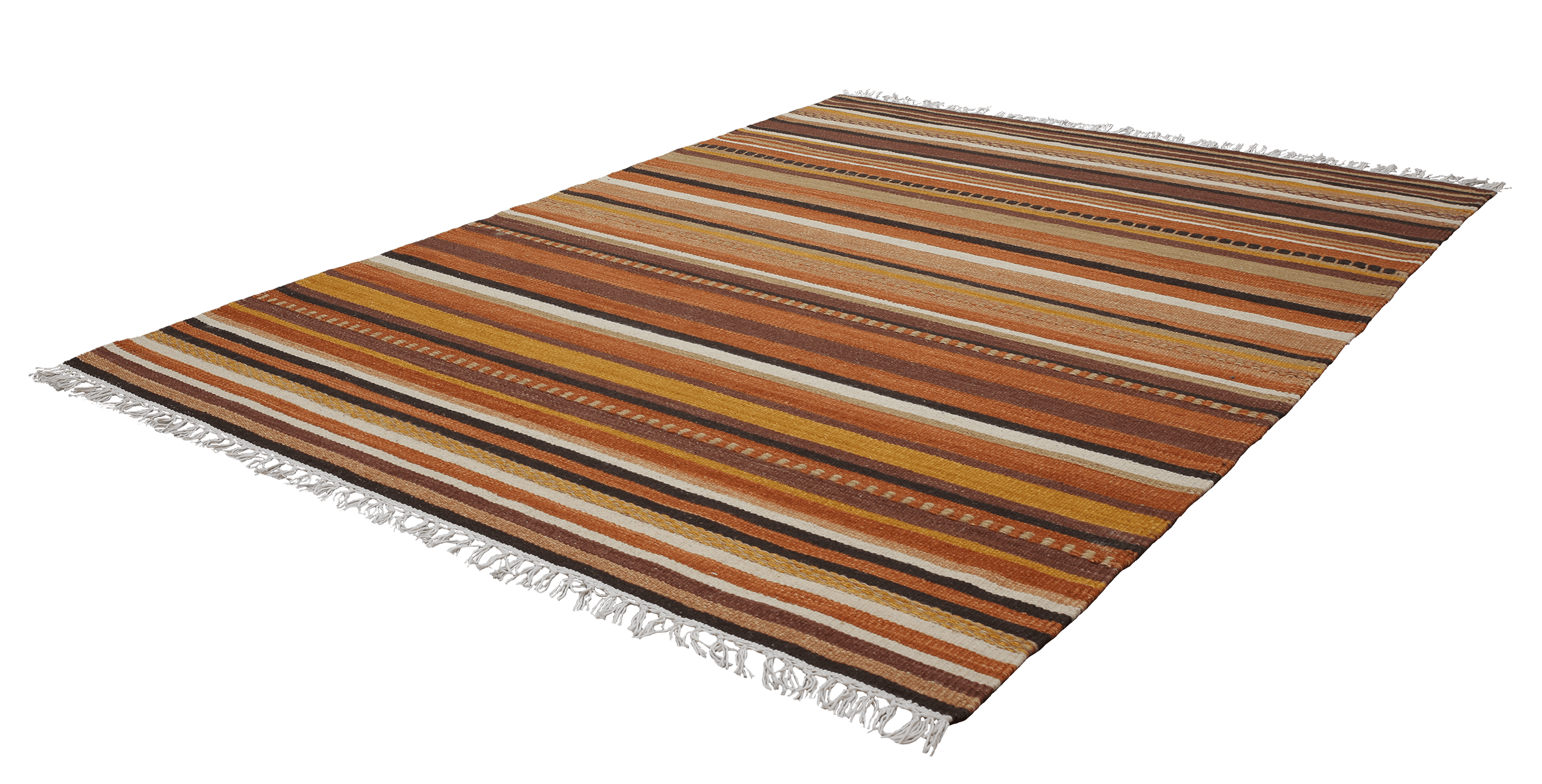 Wollen Vloerkleed Obsession Kilim Brown 781