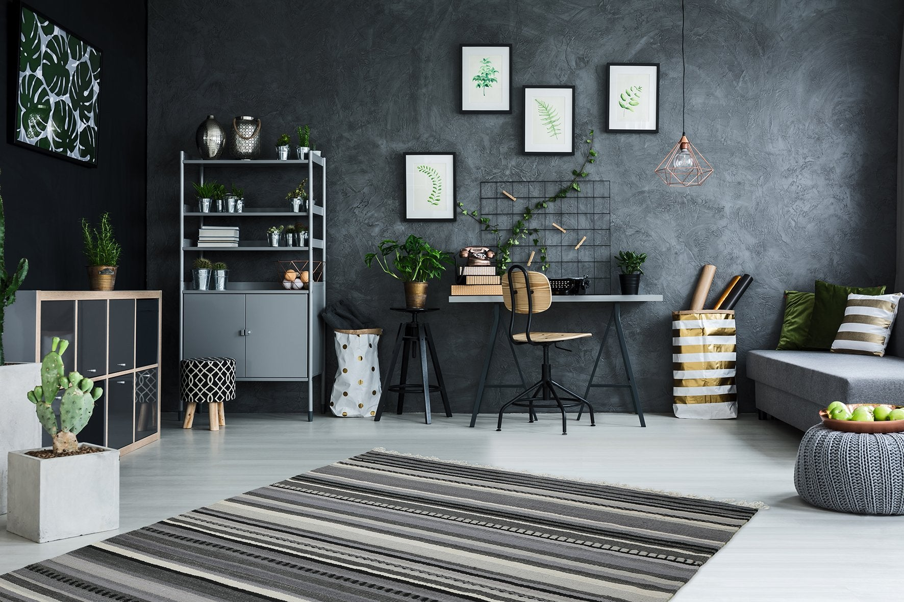 Wollen Vloerkleed Obsession Kilim Grey 781