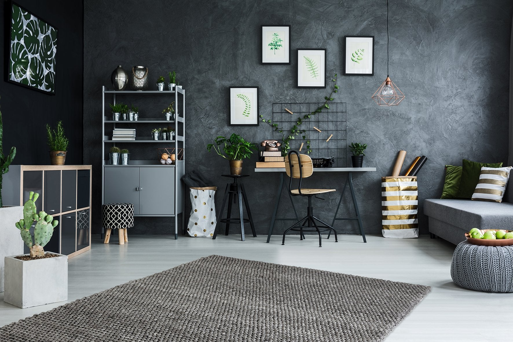 Wollen Vloerkleed Obsession Loft Graphite 580