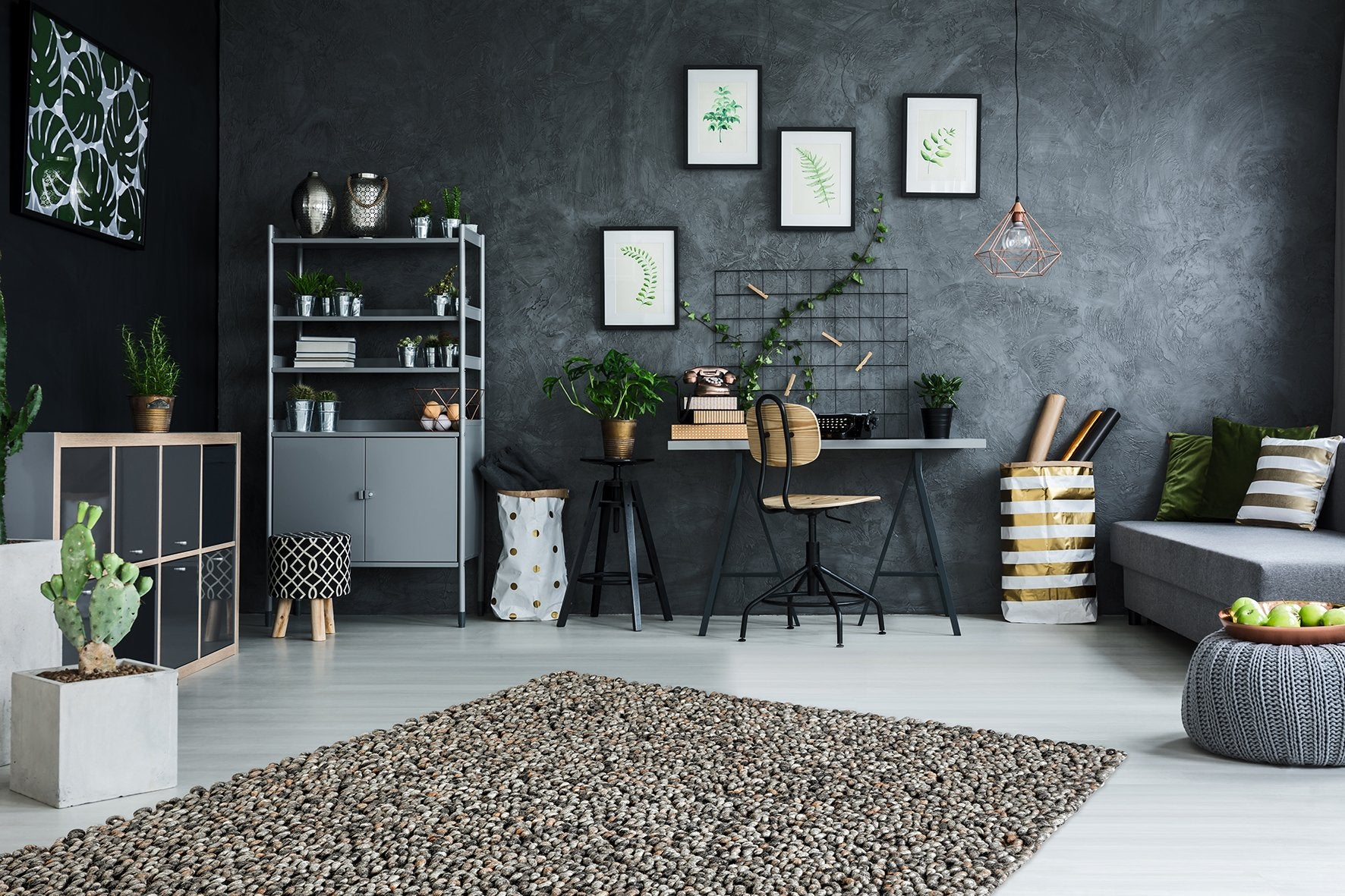 Wollen Vloerkleed Obsession Lounge Anthracite 440
