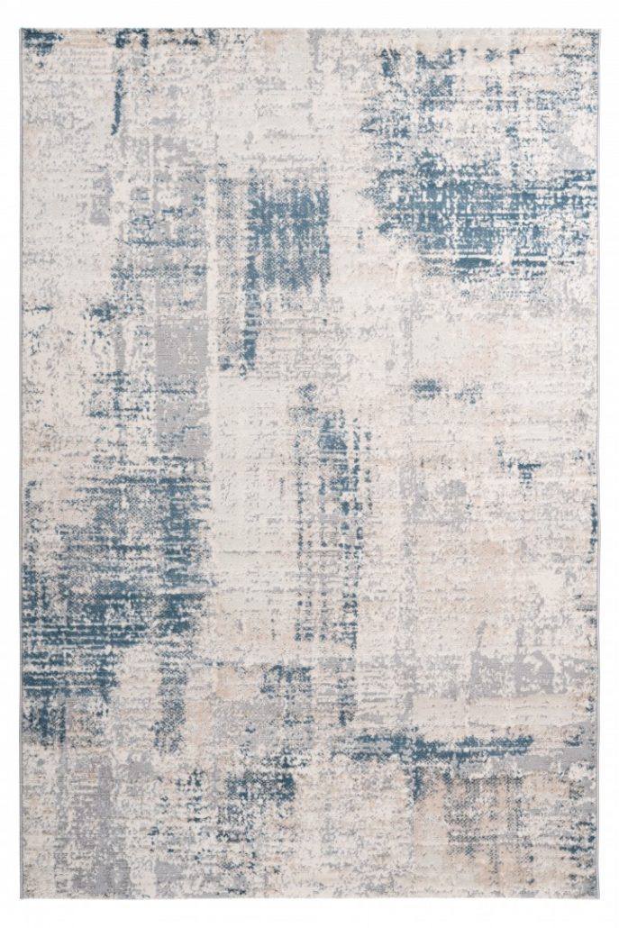 Blauw Tapijt Laagpolig Vloerkleed - Omid Abstract Mind - Omid Carpets