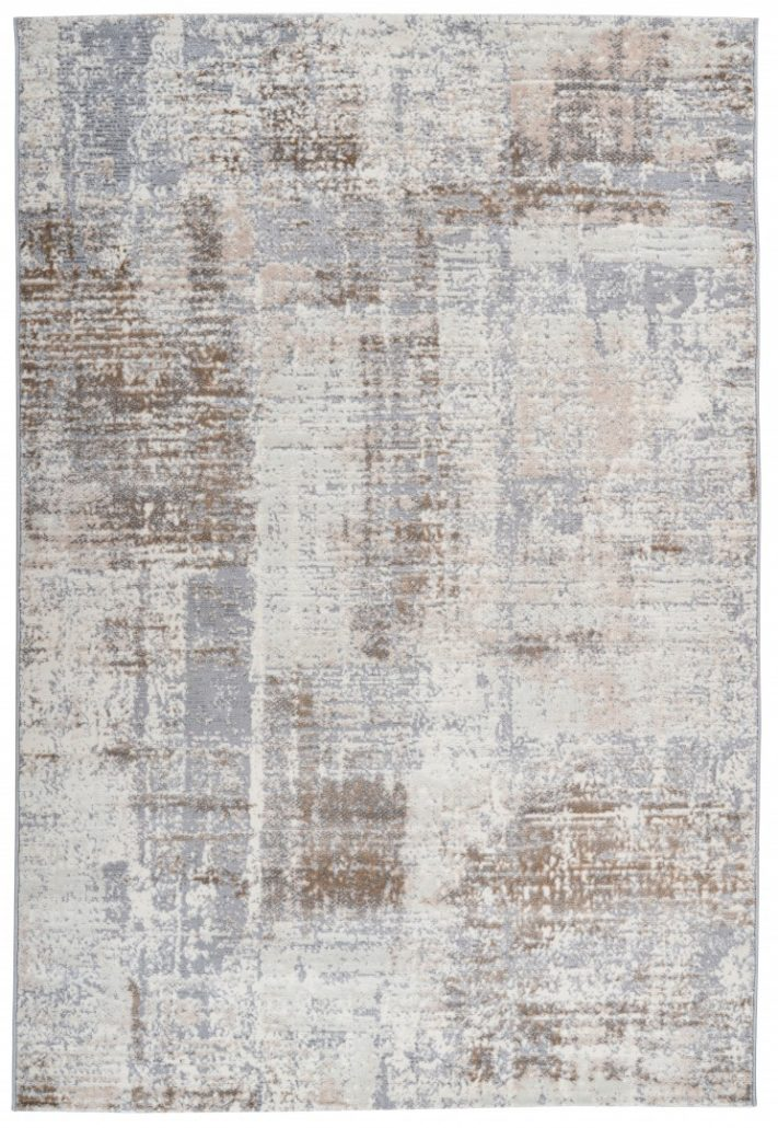 Taupe Tapijt Laagpolig Vloerkleed - Omid Abstract Mind - Omid Carpets