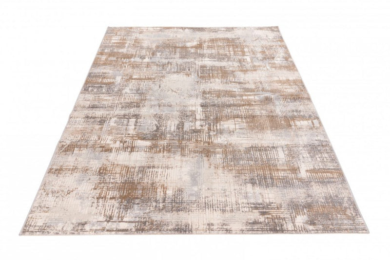 Taupe Tapijt Laagpolig Vloerkleed - Omid Abstract Mind 2 - Omid Carpets