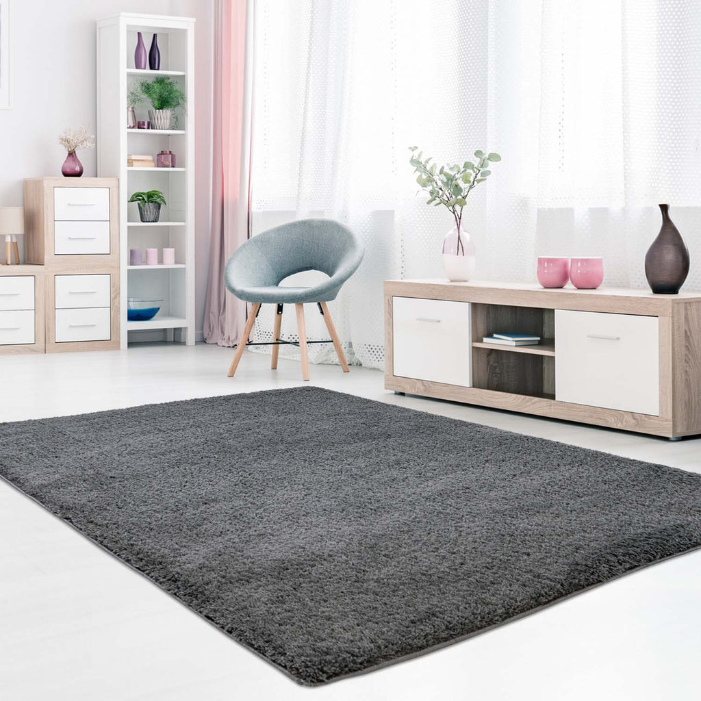 Tapijt Omid Cloud Vloerkleed Anthraciet - Omid Carpets