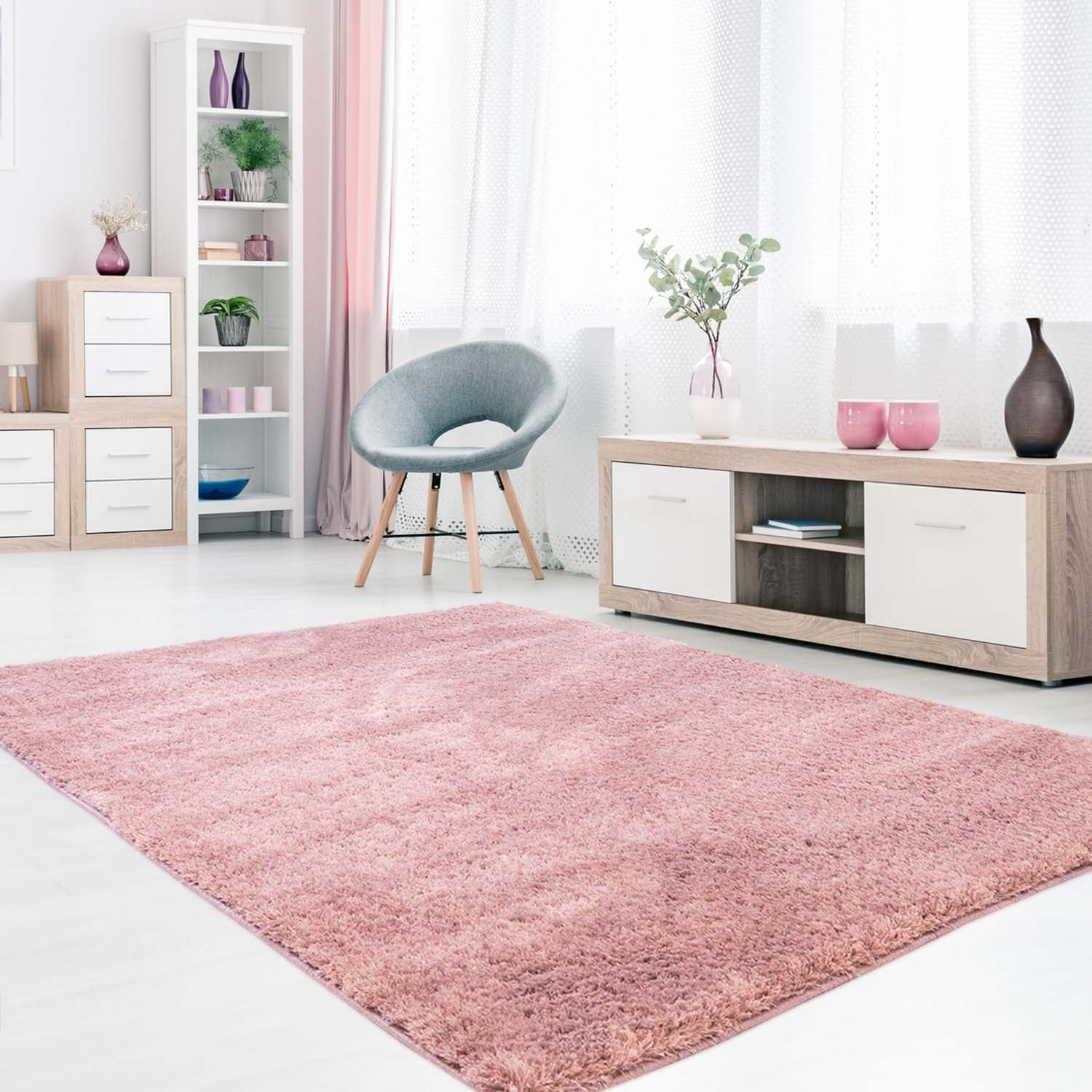 Tapijt Omid Cloud Vloerkleed Roos - Omid Carpets