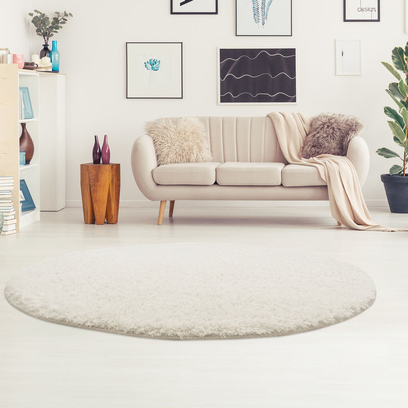 Rond Tapijt Omid Cloud Vloerkleed Wit - Omid Carpets