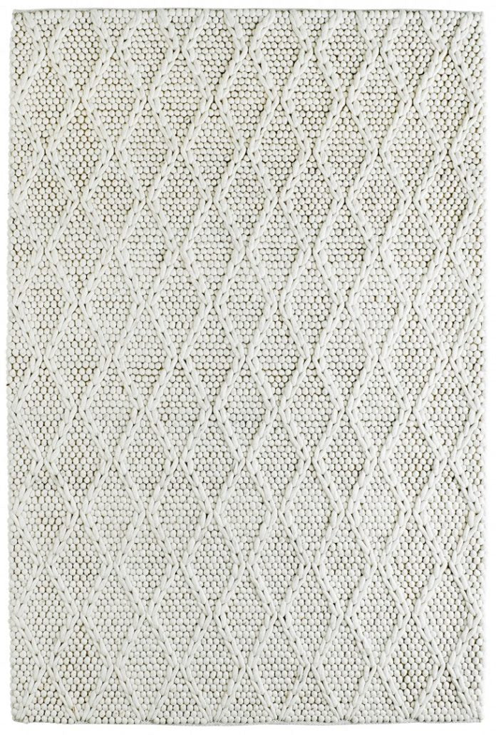 Ivory Tapijt Laagpolig Wollen Vloerkleed - Omid Path to Wool - Omid Carpets