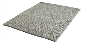 Taupe Tapijt Laagpolig Wollen Vloerkleed - Omid Path to Wool - Omid Carpets