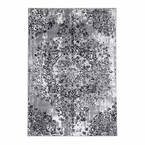 Tapijt Omid Grijstinten Abstract Vloerkleed 2 - Omid Carpets