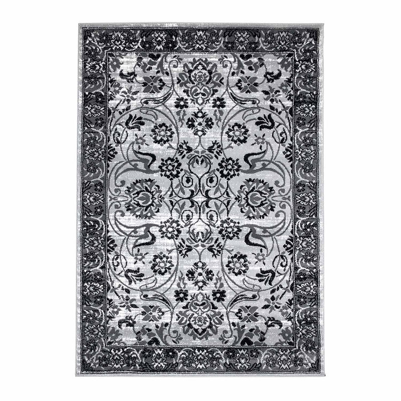Tapijt Omid Grijstinten Abstract Vloerkleed 3 - Omid Carpets
