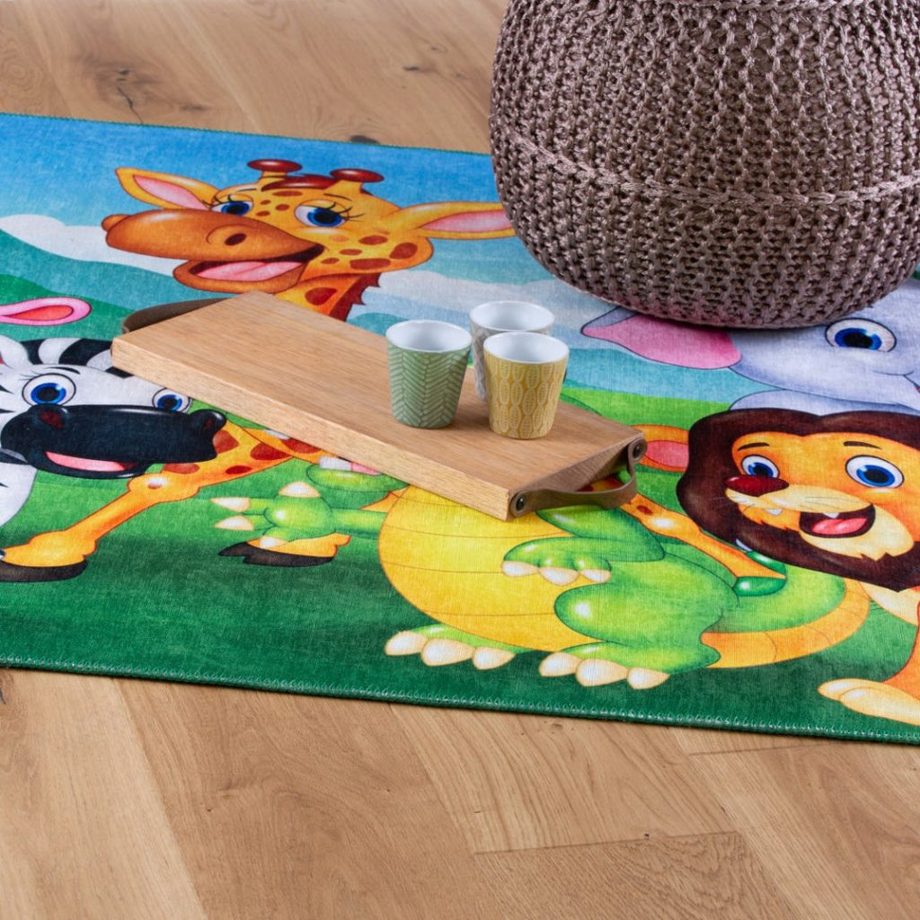Kindertapijt Omid Spelen in de Jungle Vloerkleed - Omid Carpets