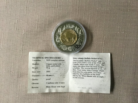 American Currencies- Gold Buffalo Nickel