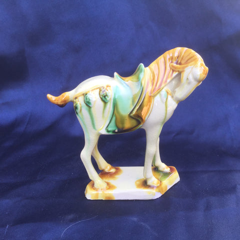 Tri-Color Tang Dynasty Pottery - Horse- White