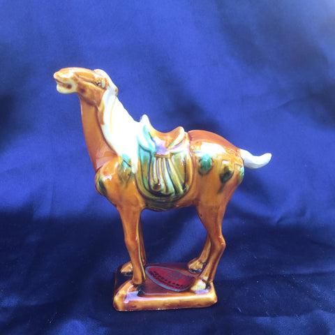 Tri-Color Tang Dynasty Pottery - Horse- Caramel