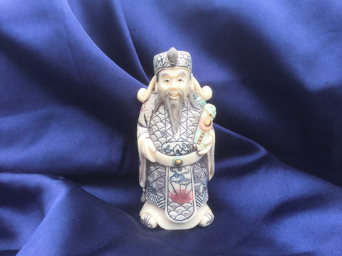 Hand Carved and painted Chinese Figurine 2