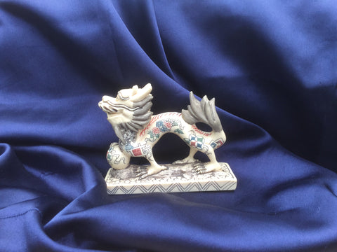 Hand Carved, Hand Painted Chinese Dragon
