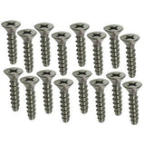 "16 Pack Stainless Steel 1"" Skimmer Face Plate Screws"