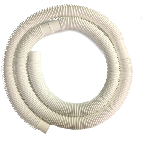 1-1/2 Inch x 15 Foot Long White Above Ground Filter Connection Hose