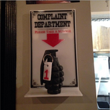 Complaint Department Office Sign