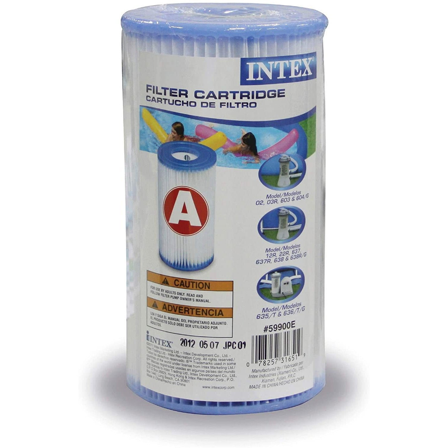 Intex Filter Cartridge Type A (59900E) - Replacement Type A and C For Easy Set Pool Filters