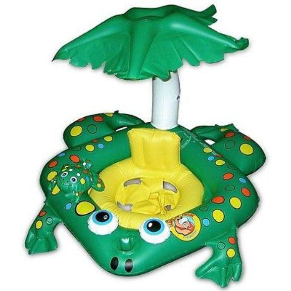 Poolmaster Swimming Pool Frog Baby Seat Rider With Top 8 - 24 mos Up