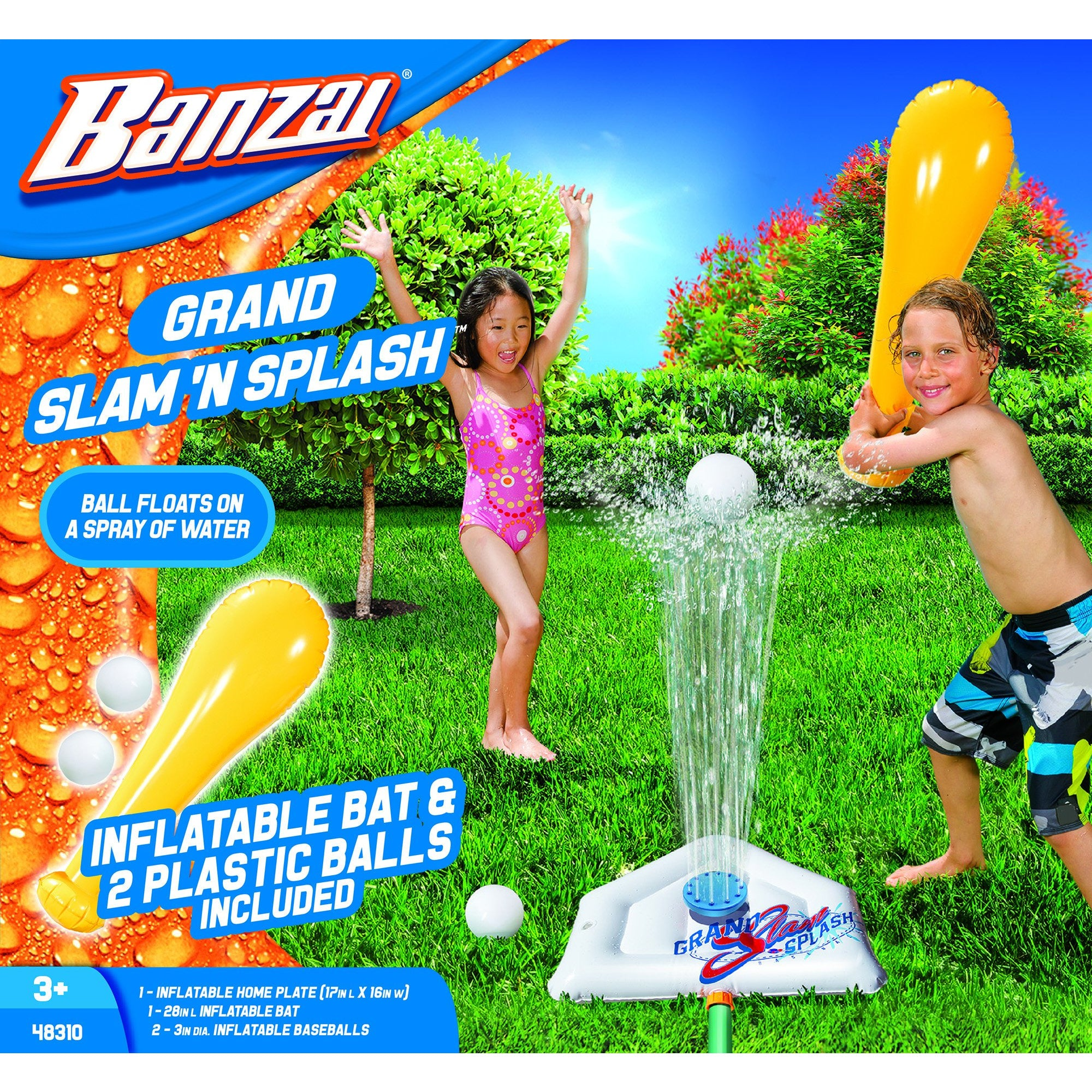 Grand Slam 'N Splash (Inflatable Backyard Water Baseball Sports)
