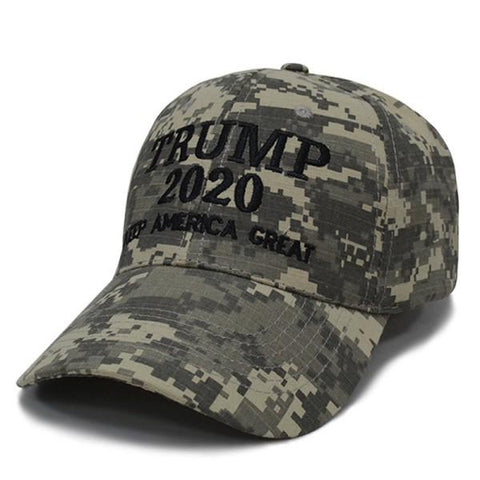 Military Camo President Donald TRUMP 2020 Election KAG Supporter HAT