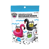 3-PACK TROPICAL BIRDS BEVERAGE BOATS