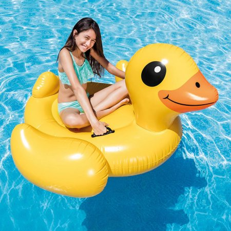 Intex Inflatable Yellow Duck Ride-On Pool Float