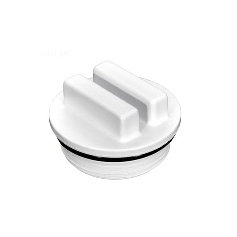 "1.5"" White Raised Winter Plug MPT with O-Ring"