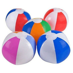 "5 Pack BEACH BALLS 7"" Inflated SWIMMING POOL PARTY Balls"