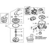 "Hayward Multiport Valve 1 1/2"" SP710, 711,& 712 O'ring Gasket Rebuilt Kit"