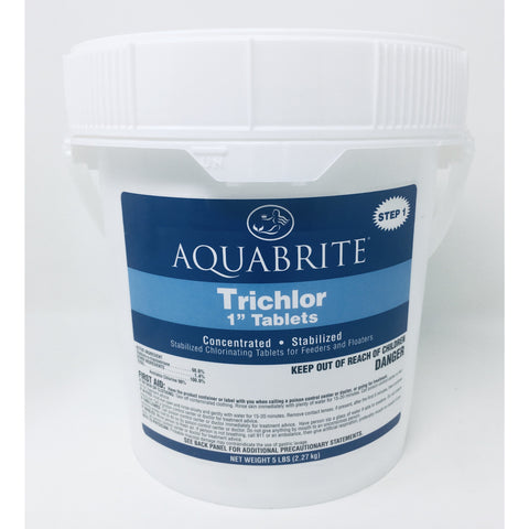 "5 # Pail  1"" AQUABRITE TRICHLOR Tablets"