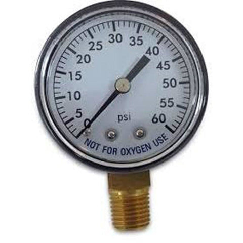 Pool Spa Filter Water Pressure Gauge 0-60 PSI, Bottom Mount