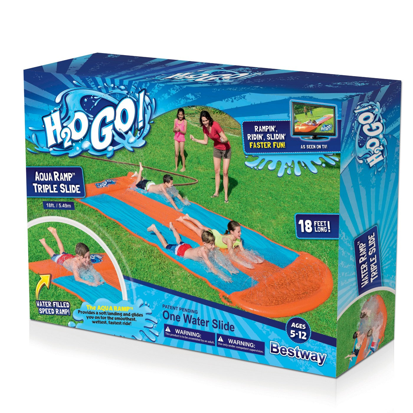 H2OGO!™ Triple Aqua Ramp Slide