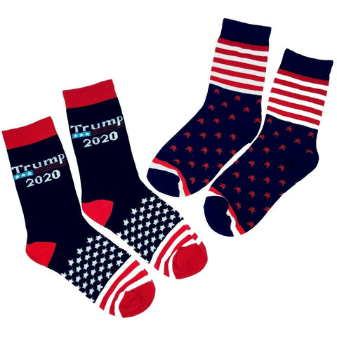 2 Pair President Donald Trump 2020 Unisex Socks Republican GOP Election