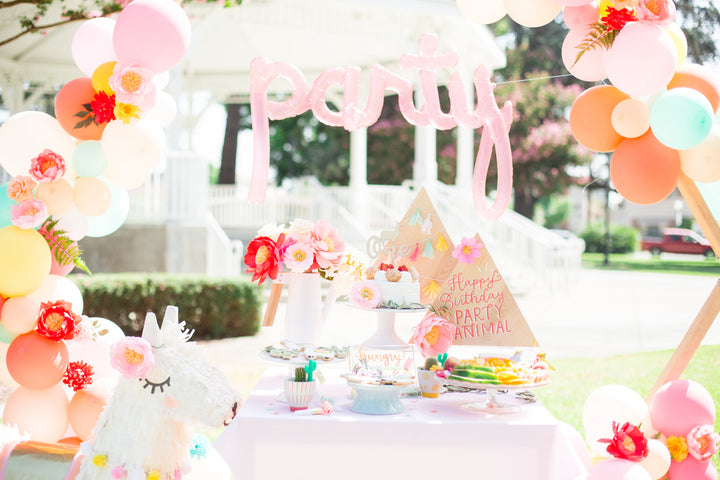 Llama Birthday Party featured on Style Me Pretty Living