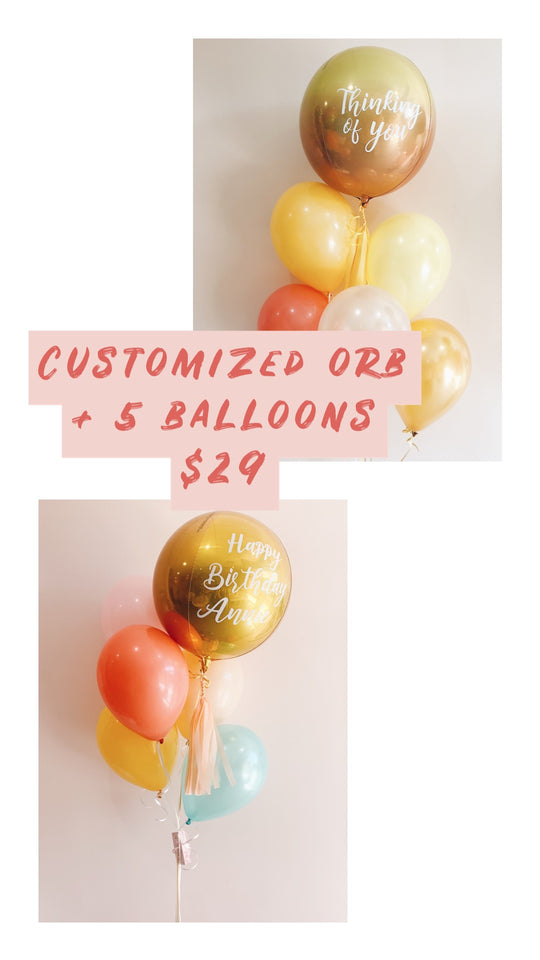 CUSTOMIZED ORB BOUQUETS