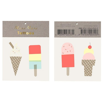 ice cream popsicle temporary tattoos