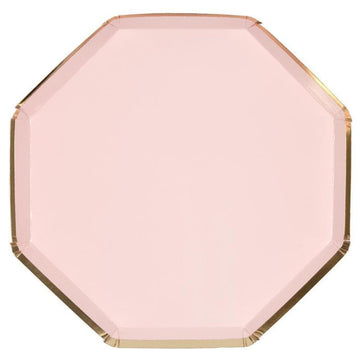pastel pink paper plate